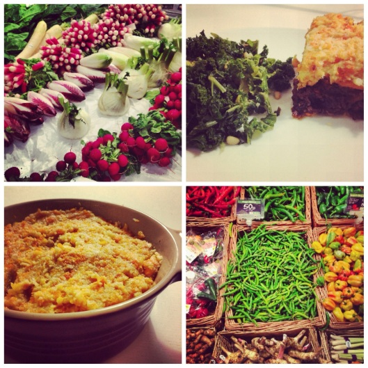 colourful vegetables, cottage pie & kale, girlboydog