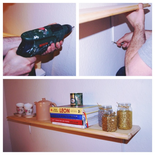 Kitchen shelf DIY girlboydog